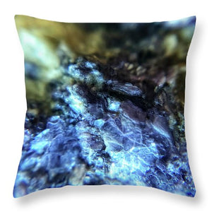Crystals And Stones Lepidolite 9003 - Throw Pillow - Jani Bryson Intuitive Photographer