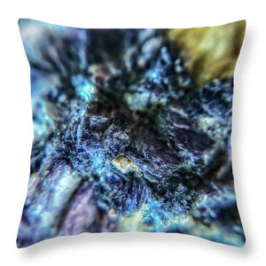 Crystals And Stones Lepidolite 9018 - Throw Pillow - Jani Bryson Intuitive Photographer