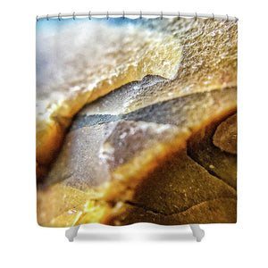 Crystals And Stones Mook Jasper 3501 - Shower Curtain - Jani Bryson Intuitive Photographer