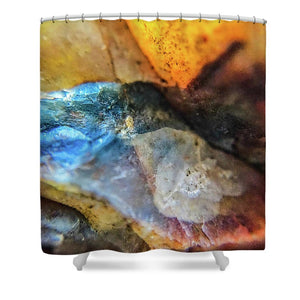 Crystals And Stones Mook Jasper Petrified Wood 3729 - Shower Curtain