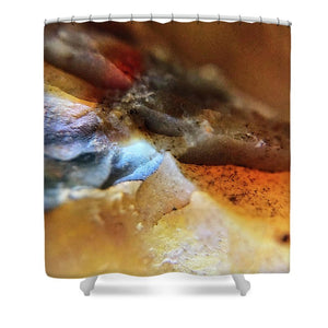 Crystals And Stones Mook Jasper Petrified Wood 3733 - Shower Curtain