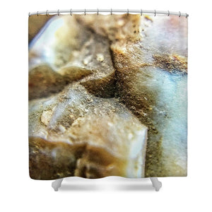 Crystals And Stones Mook Jasper Petrified Wood 3738 - Shower Curtain