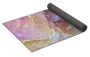 Crystals And Stones Pink Opal 9053 - Yoga Mat - Jani Bryson Intuitive Photographer