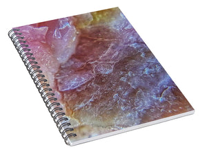 Crystals And Stones Pink Opal 9053 - Spiral Notebook - Jani Bryson Intuitive Photographer