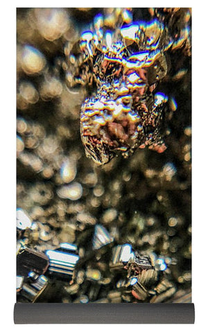 Crystals And Stones Pyrite 3971 - Yoga Mat - Jani Bryson Intuitive Photographer