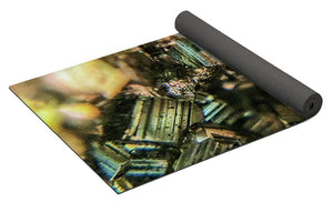 Crystals And Stones Pyrite 4045 - Yoga Mat - Jani Bryson Intuitive Photographer
