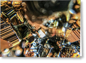 Crystals And Stones Pyrite 9061 - Greeting Card - Jani Bryson Intuitive Photographer