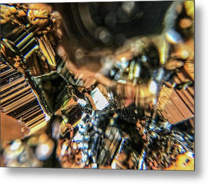Crystals And Stones Pyrite 9061 - Metal Print - Jani Bryson Intuitive Photographer