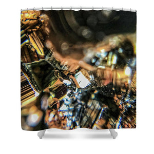 Crystals And Stones Pyrite 9061 - Shower Curtain - Jani Bryson Intuitive Photographer