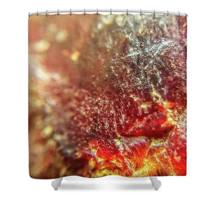 Crystals And Stones Red Carnelian 2549 - Shower Curtain - Jani Bryson Intuitive Photographer