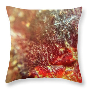 Crystals And Stones Red Carnelian 2549 - Throw Pillow - Jani Bryson Intuitive Photographer