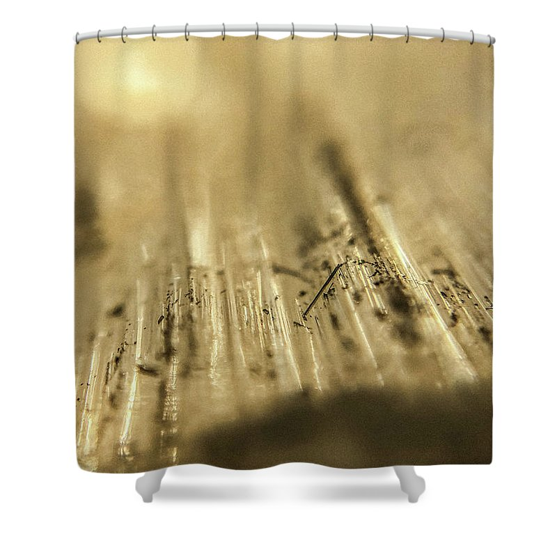 crystals and stones selenite 5266 shower curtain healing journey