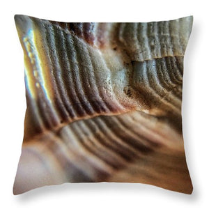 Crystals And Stones Shell 4721 - Throw Pillow - Jani Bryson Intuitive Photographer