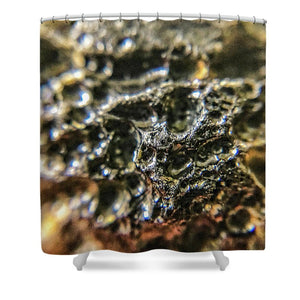 Crystals And Stones Tektite 1776 - Shower Curtain - Jani Bryson Intuitive Photographer