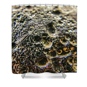 Crystals And Stones Tektite 1781 - Shower Curtain - Jani Bryson Intuitive Photographer