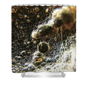Crystals And Stones Tektite 1840 - Shower Curtain - Jani Bryson Intuitive Photographer