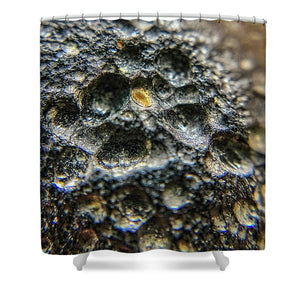 Crystals And Stones Tektite 1870 - Shower Curtain - Jani Bryson Intuitive Photographer