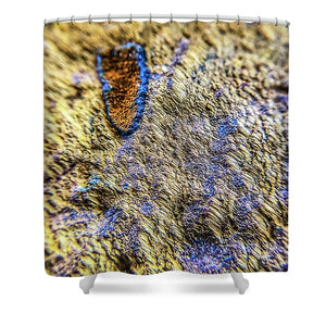 Crystals And Stones Tiger Eye 4689 - Shower Curtain - Jani Bryson Intuitive Photographer