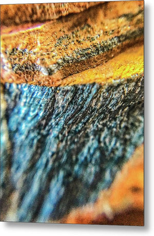 Crystals And Stones Tiger Eye 4775 - Metal Print - Jani Bryson Intuitive Photographer