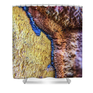 Crystals And Stones Tiger Eye 4837 - Shower Curtain - Jani Bryson Intuitive Photographer