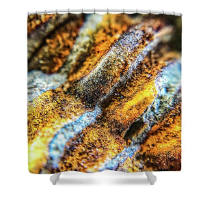 Crystals And Stones Trilobite Geode 4373 - Shower Curtain - Jani Bryson Intuitive Photographer