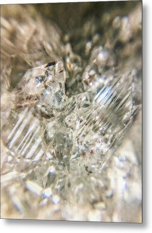 Crystals And Stones Zeolite 4718 - Metal Print - Jani Bryson Intuitive Photographer