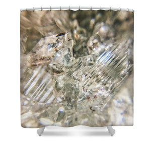 Crystals And Stones Zeolite 4718 - Shower Curtain - Jani Bryson Intuitive Photographer