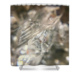 Crystals And Stones Zeolite 4731  - Shower Curtain - Jani Bryson Intuitive Photographer
