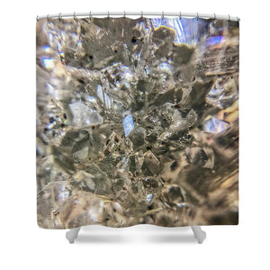 Crystals And Stones Zeolite 4884 - Shower Curtain - Jani Bryson Intuitive Photographer