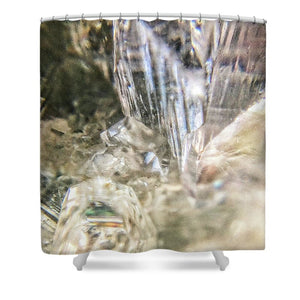 Crystals And Stones Zeolite 4922 - Shower Curtain - Jani Bryson Intuitive Photographer