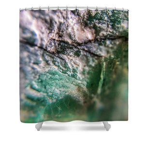 Crystals And Stones Amazonite 7927 - Shower Curtain - Jani Bryson Intuitive Photographer