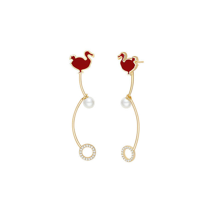 Pearl Dodo Bird Earrings/Animal Collection/S925