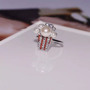 Popcorn Pearl Ring/Stravaganza Collection/S925