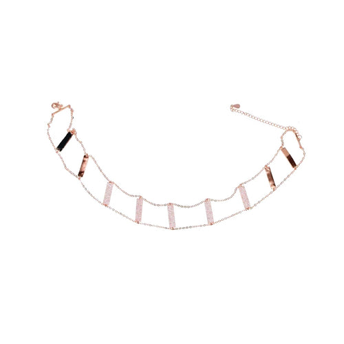 Stone Bar Choker Necklace