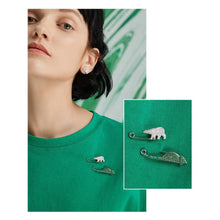 Polar Bear/Lizard Brooch/Animal Collection/S925