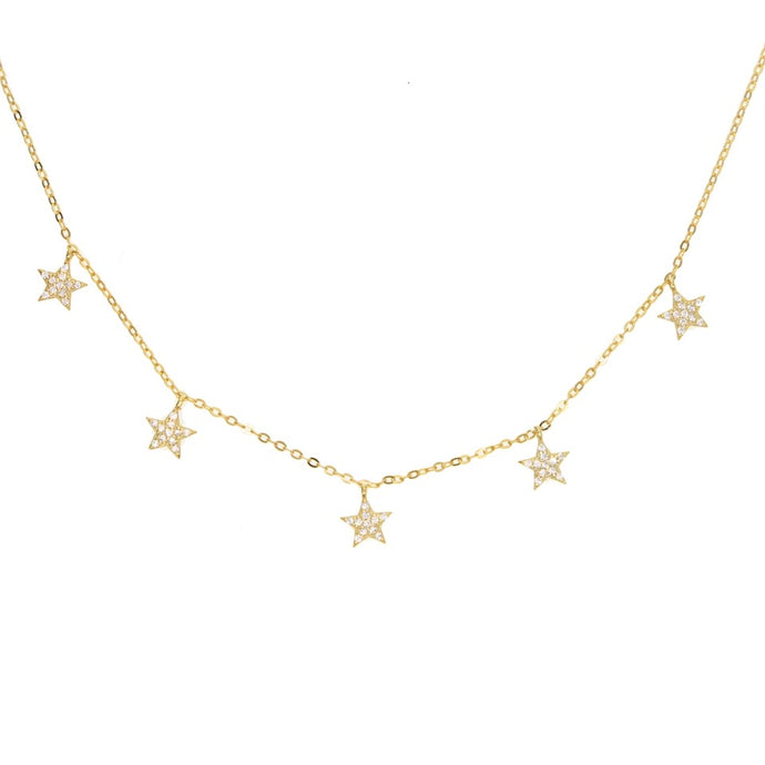 Star Drops Necklace