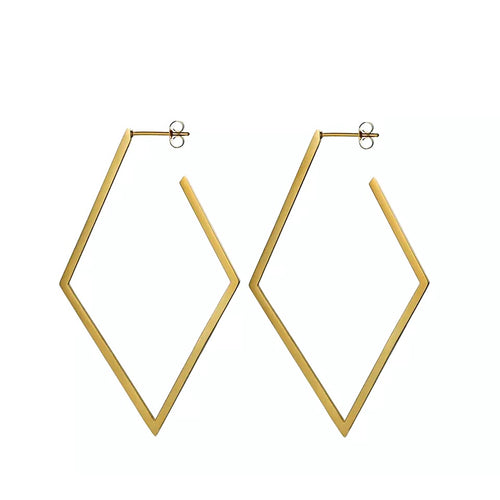 Rhombus Hoop Earrings