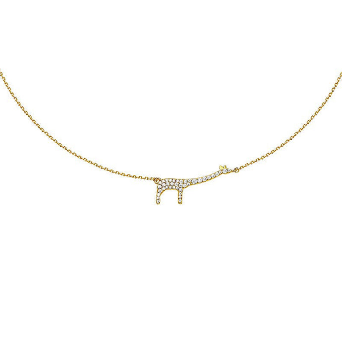 Giraffe Necklace/Animal Collection/S925