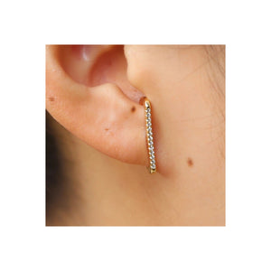 Stone Bar Stud Earrings