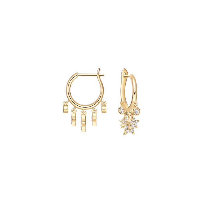 Stravagnza Star Hoop Earrings/S925