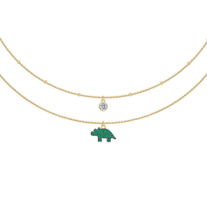 Rhino Necklace/Animal Collection/S925