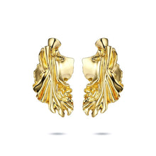 Gold Leave Drop Earrings