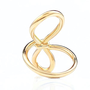 Gold Knot Ring/S925