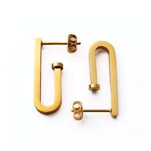 Small Pipe Drop Earrings