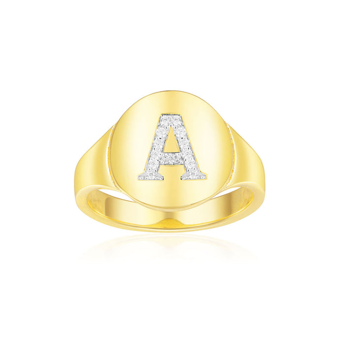 Alphabet  ID Ring/S925