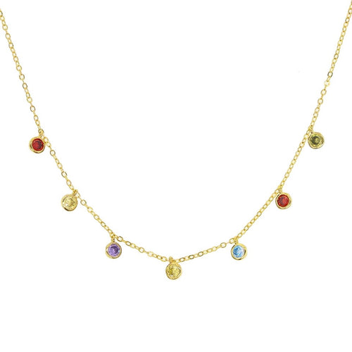 Rainbow Drops Charm Necklace