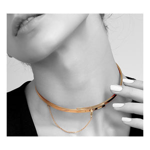 Safety Chain Choker Necklace