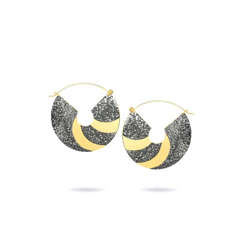 Circle Dangle Earrings/Hand Painted Collection