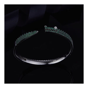 Green Crocodile Bangle