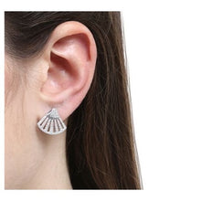 Fan Stud Earrings/S925